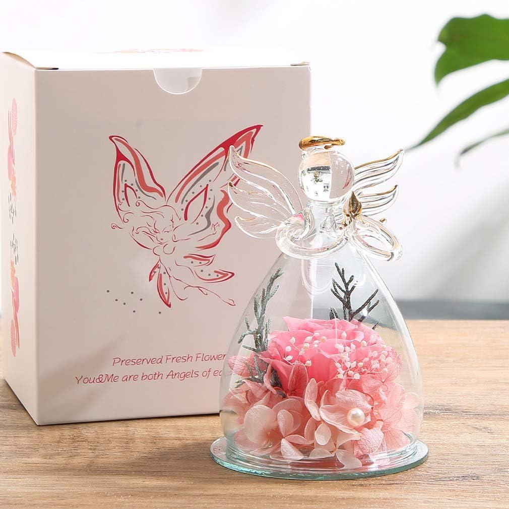 Cadeau pour la Saint-Valentin pour toujours Rose Cadeau danniversaire fait main fleur pr/éserv/ée Rose Fleur danniversaire pour le cadeau danniversaire Roses pour enfants jamais fl/étries
