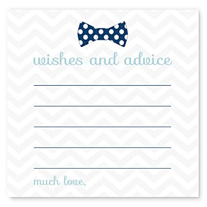 Amazon Bow Tie Baby Shower Advice Cards Pack 25 Pc Kitchen