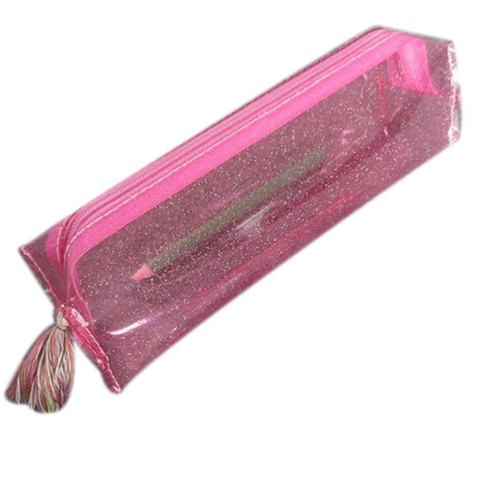cosanter l/ápiz funda borla de purpurina brillante sint/ética piel maquillaje gafas bolsa para chica mujer color Sky-blue 20x8.5x5cm
