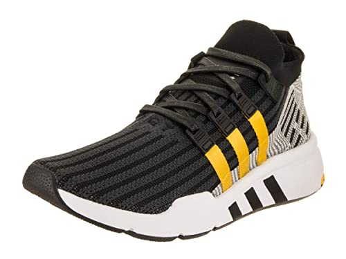 sneakers for cheap bbe5c b1f03 adidas Mens EQT Support Mid Adv Primeknit Originals Core BlackEQT YellowWhite  Training