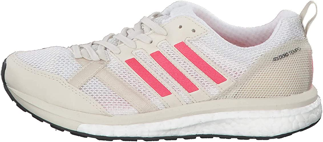 adidas Adizero Tempo 9 Wettkampfschuh Damen-Creme, Rot, Running ...