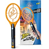 ZAP IT! Bug Zapper Rechargeable Mosquito, Fly Killer and Bug Zapper Racket - 4,000 Volt - USB Charging, Super-Bright LED…