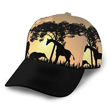 Gorra de béisbol Ajustable con Silueta de Safari Africano, para ...