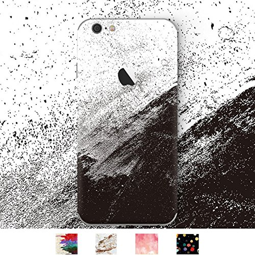 DowBier iPhone Premium 3M Vinyl Decal Skin Sticker Wrap Cover for iPhone (Black and White Ink, iPhone X)