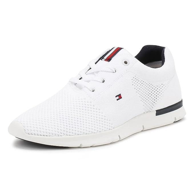 Tommy Hilfiger Hombres Blanco T2285OBIAS 10D Zapatillas: Amazon.es: Zapatos y complementos