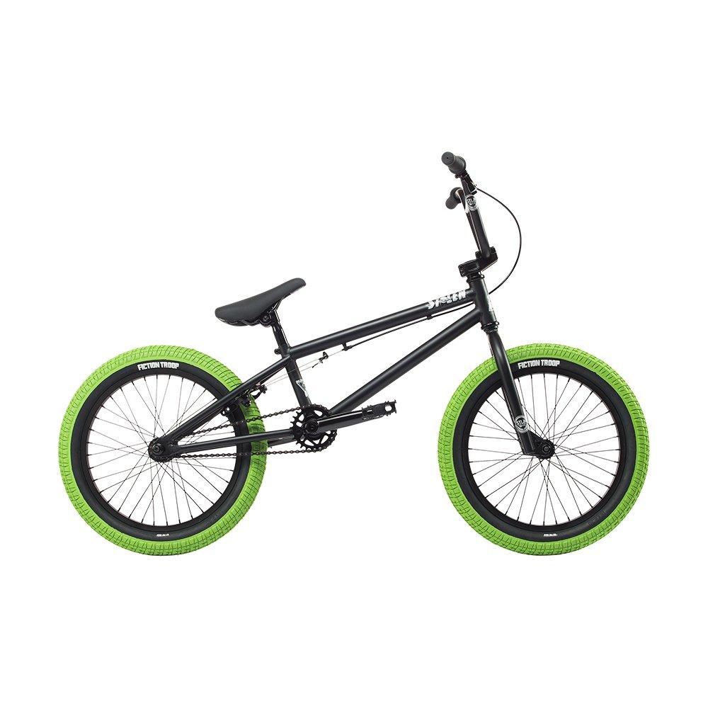 自転車 bmx STOLEN ストーレン 2018 AGENT MATTE BLACK W/GANG GREEN 18インチ 完成車 完全組立 S059 B074K882PYMATTE-BLACK-W/GANG-GREEN AGENT-18