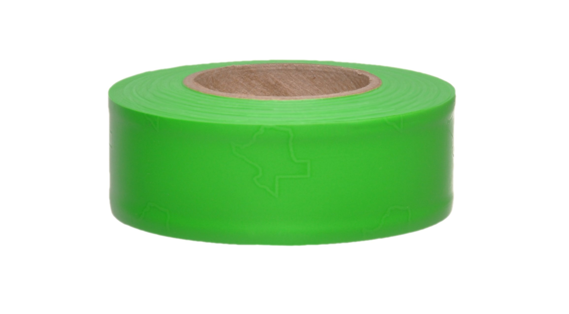 Presco TX1GG-658 150' Length x 1'' Width, PVC Film, Texas Green Glo Solid Color Roll Flagging (Pack of 100)
