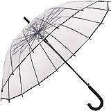 Paraguas Transparente,Paraguas de Mango Largo,Auto Abierto, Forma de la bóveda de la Manera, Resistencia Fuerte del…