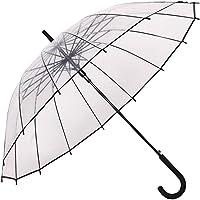 Paraguas Transparente,Paraguas de Mango Largo,Auto Abierto, Forma