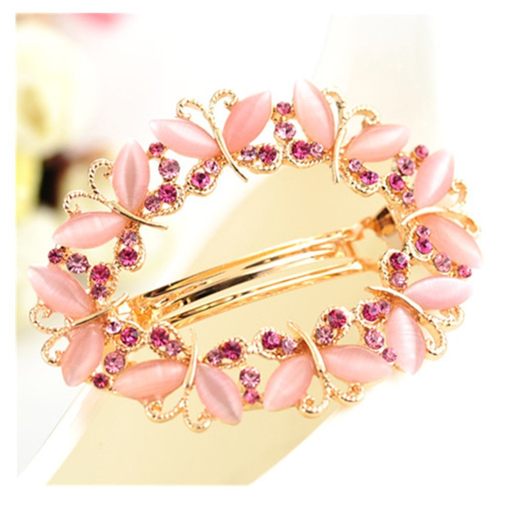Casualfashion Luxury Women's Butterfly Hollow Out Rhinestone Hair Pin Clip Barrette Clamp Ponytail Holder Accessory wf2016060211
