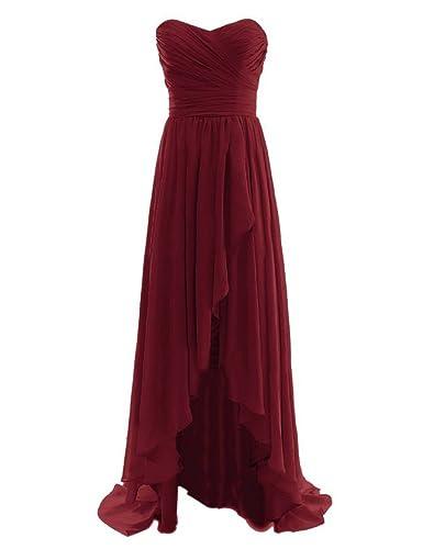 Fanciest Women's High Low Prom Dresses 2017 Long Bridesmaid Dress