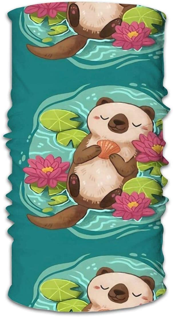 SVDziAeo Nasculi Happy Otter Antipolvere Antivento Viso Bandana Protezione variet/à Sciarpa Testa Unisex