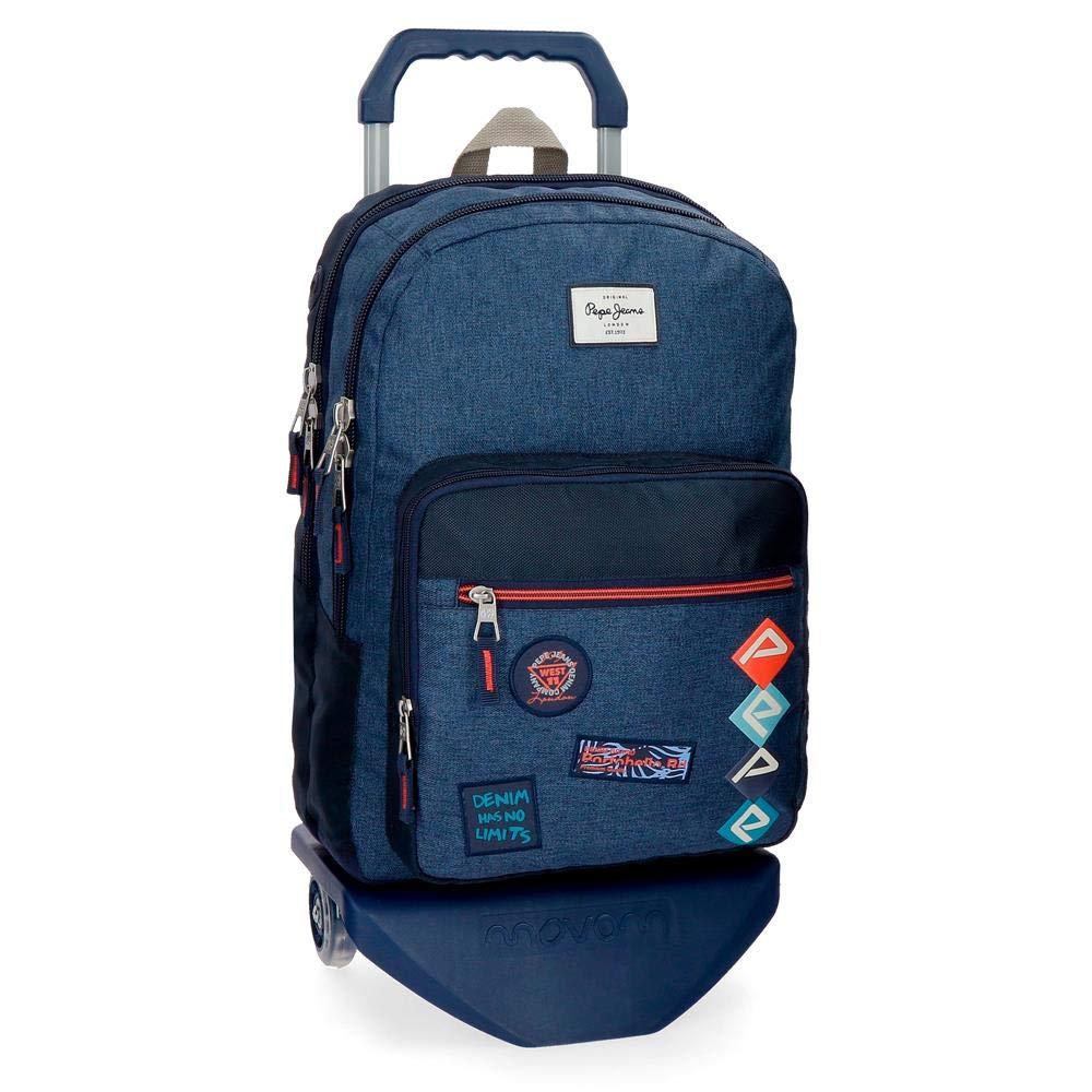 ペペジーンズポールスクールバックパック44センチ19.8ブルー(アズール)   B07NQTWVPN