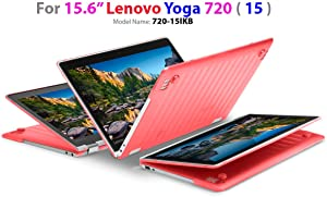 "mCover Hard Shell Case for 15.6"" Lenovo Yoga 720 (15) Laptop (RED)"