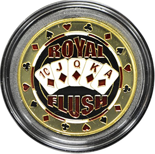(MRC Poker Hand Painted Poker Card Guard Protector - Royal Flush)