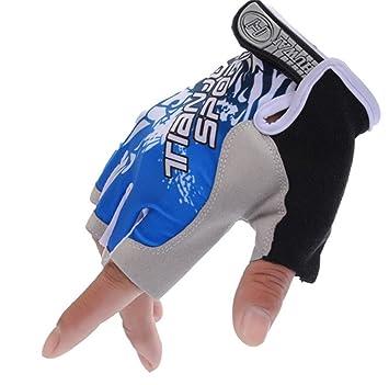 846217bab4af16 ZYPMM Männer Handschuhe Halbfinger Sommer dünner Abschnitt atmungsaktiv  Handschuh Rutschdämpfungs Ausrüstung Sonnenschutz MTB Reiten ( Color