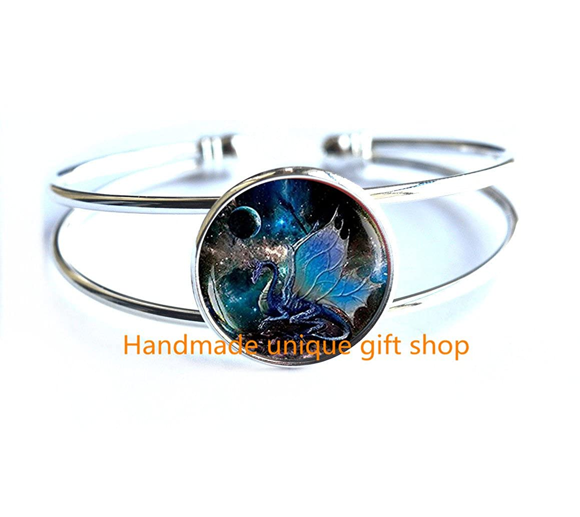 Fashion Bracelet Dragon Wings Jewelry-RC101 Space Bracelet Dragon Jewelry Blue Dragon Bracelet Beautiful Bracelet,Blue Dragon Bracelets