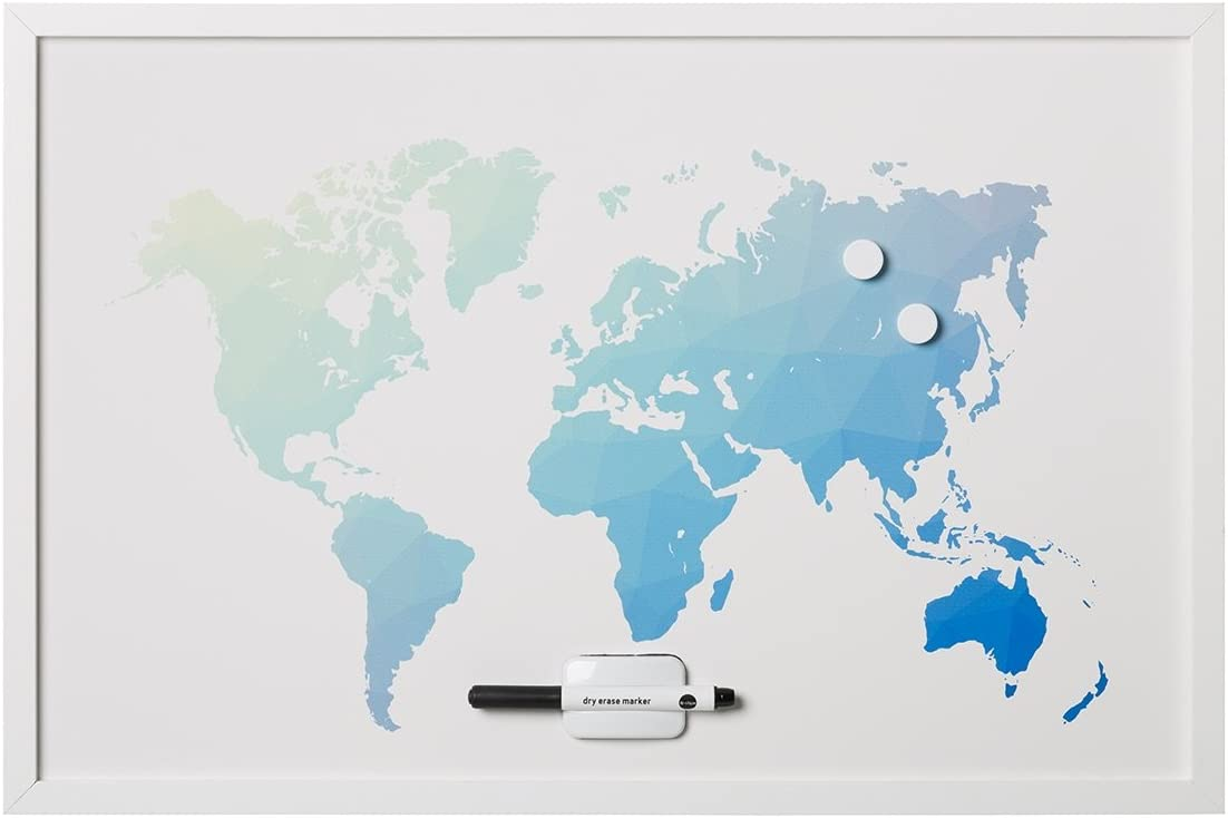 Amazon.com : MasterVision Magnetic Dry Erase World Map Board ... on metal world map, custom world map, winter world map, butterfly world map, cork board world map, peel and stick world map, ink world map, fluorescent world map, space world map, chalk world map, erasable world map, paint world map, christmas world map, jewelry world map, paper world map, canvas world map, star wars world map, super mario bros 3 world map, magnetic world map, fabric world map,