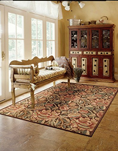 Nourison Graphic Illusions  Brown Rectangle Area Rug, 3-Feet 6-Inches by 5-Feet 6-Inches (3'6