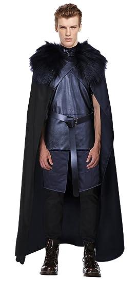 BOODUN Jon Snow Chaqueta de armadura de cuero Watchman