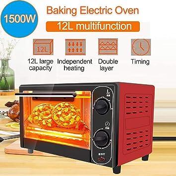 Mini horno eléctrico doméstico 12L 1500W, máquina para hornear pan ...