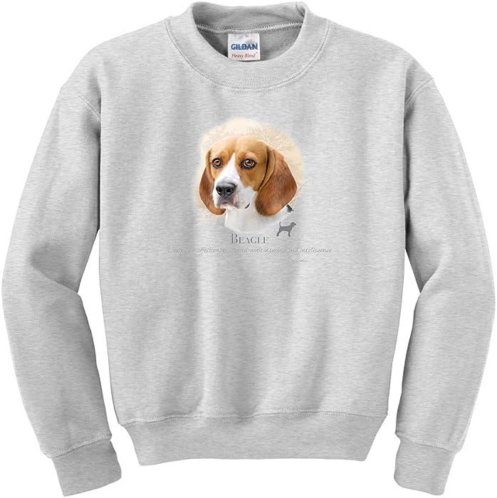 Amazon Com Express Yourself Beagle Head Crew Neck Sweatshirt Ash