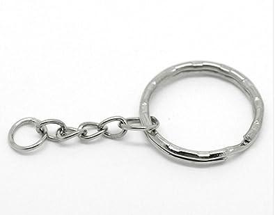 Juego de 14 anillas llavero con cadena: Amazon.es: Joyería