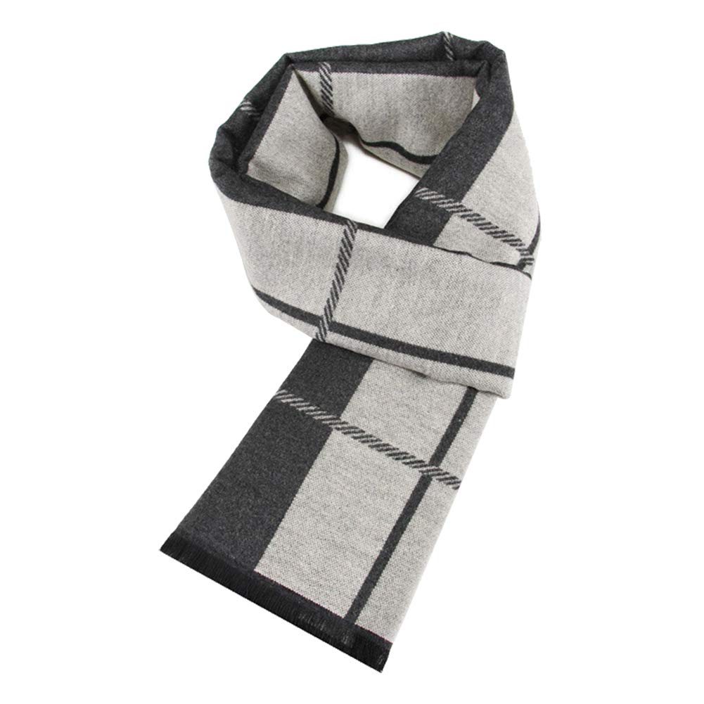Cotton Knit Fashion Scarves Vikenner Men Winter Cashmere Feel Scarf