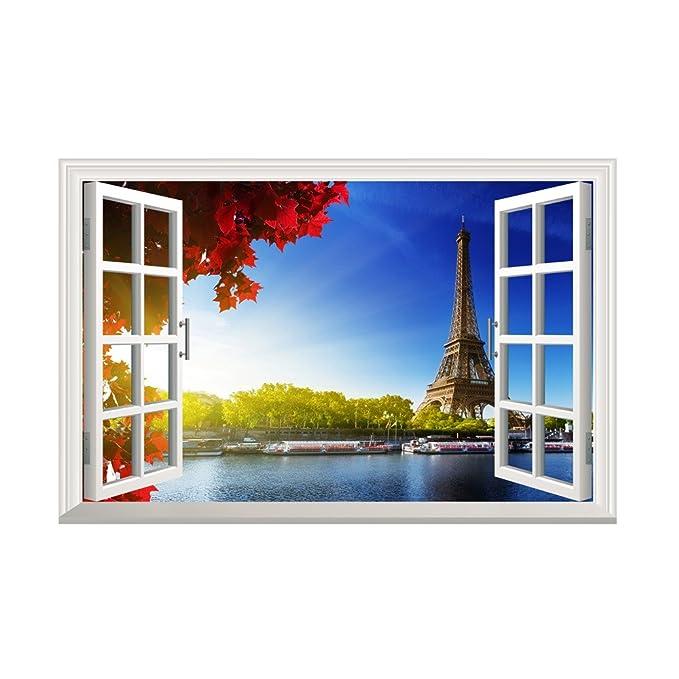Landschaft außerhalb des Fensters Wandtattoo Home Aufkleber Wandbild Home Decor Aufkleber