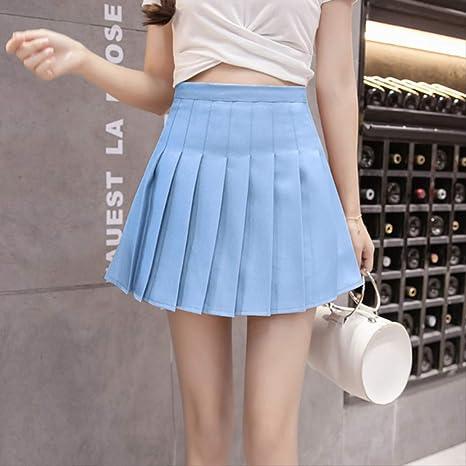 GDNTCJKY Faldas para Mujer Verano Falda Media Cintura Mini Falda ...