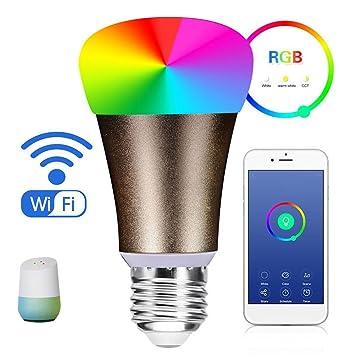 Bombilla LED de luz WIFI, bulary color Smart bombilla LED, LED de intensidad regulable
