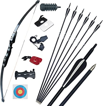 Left Right Handed Black Archery Compound Bow Set 15 lbs Child Beginner Practice