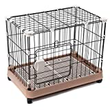 Favorite Dog Puppy Metal Crate Pet Home Training Kennel Cage with Plastic Tray, Brake and Wheel Review