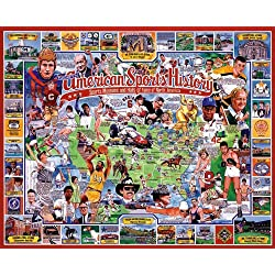 White Mountain Puzzles American Sports History, 1000 pieces