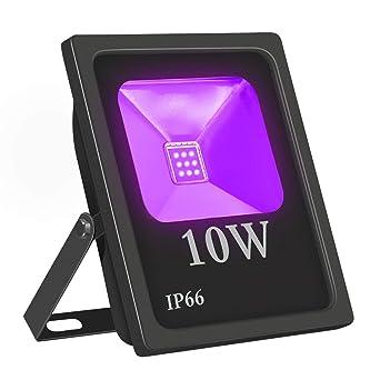 UV Led Luz de Inundación,Eleganted Impermeable IP66 Ultravioleta Blacklights Luces Negra 10W Lámpara Led