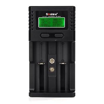 Amazon.com: windfire® visualización LCD 18650 3.7 V batería ...