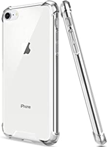 Salawat for iPhone SE 2020 Case, iPhone 7 Case, Clear iPhone 8 Case Cute Anti Scratch Slim Phone Case Cover TPU Bumper Hard PC Back Shockproof Protective Case for iPhone SE/8/7 (Crystal Clear)