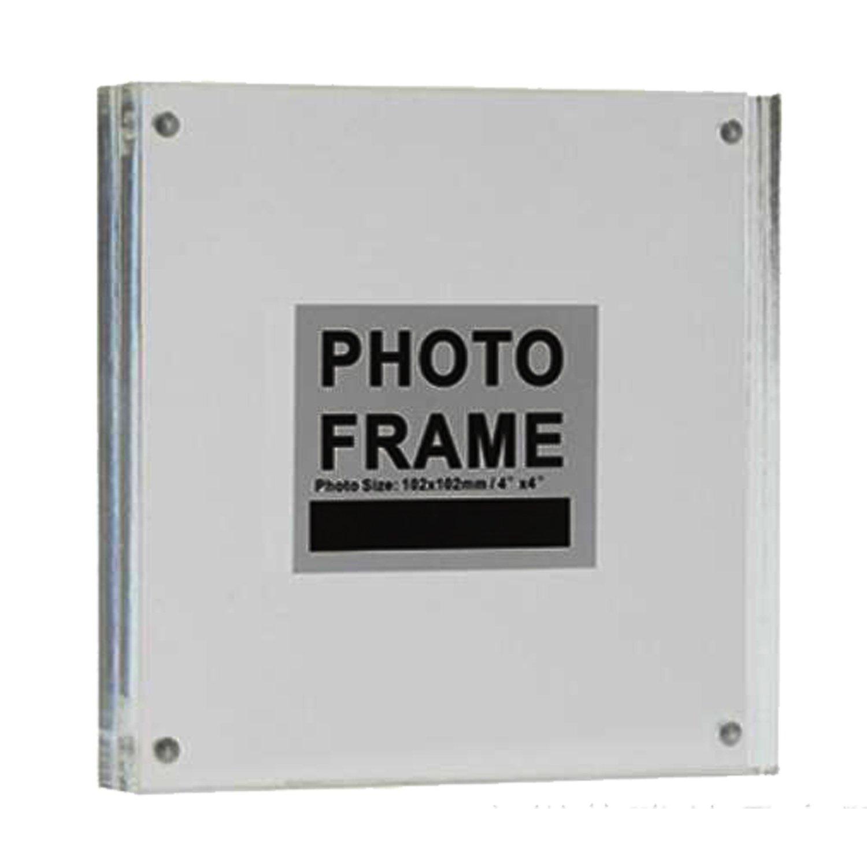 de doble cara marco de fotos vertical y horizontal 2.5x3.5inch Transparente acr/ílico magn/ético marco de fotos acr/ílico con cierre magn/ético
