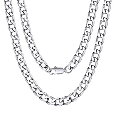 ChainsPro Ankerkette 925 Sterling Silber - 6mm Halskette Silber in 46 51 55  37f73c33d4