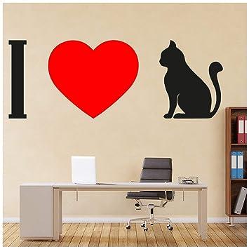 azutura Amo a los Gatos Mascotas Vinilos Disponible en 8 Tamaños Gigantesco Digital: Amazon.es: Hogar