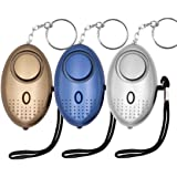 Safe Sound Personal Alarm, KOSIN 3 Pack 145DB Personal Security Alarm Keychain with LED Lights, Emergency Safety Alarm…