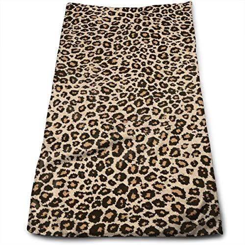(Cool Leopard Skin Compressed Quick-Dry Velour Fingertip Towels Washcloth - Carry-on, Durable, Lightweight, Commercial Grade, Ultra Absorbent - 12x27.5 Inches)