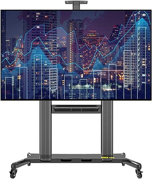 ROMX Soporte para TV móvil Black Rolling TV Cart para Pantalla ...