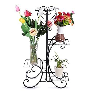 Blumenständer Blumentreppe Blumenregal Pflanzregal Pflanzenständer 2 Blumentopf