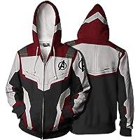 Endgame Hoodie Avengers 4 Cosplay Costume Zip Up Jacket Sweater Sweatshirt Coat With Pockets