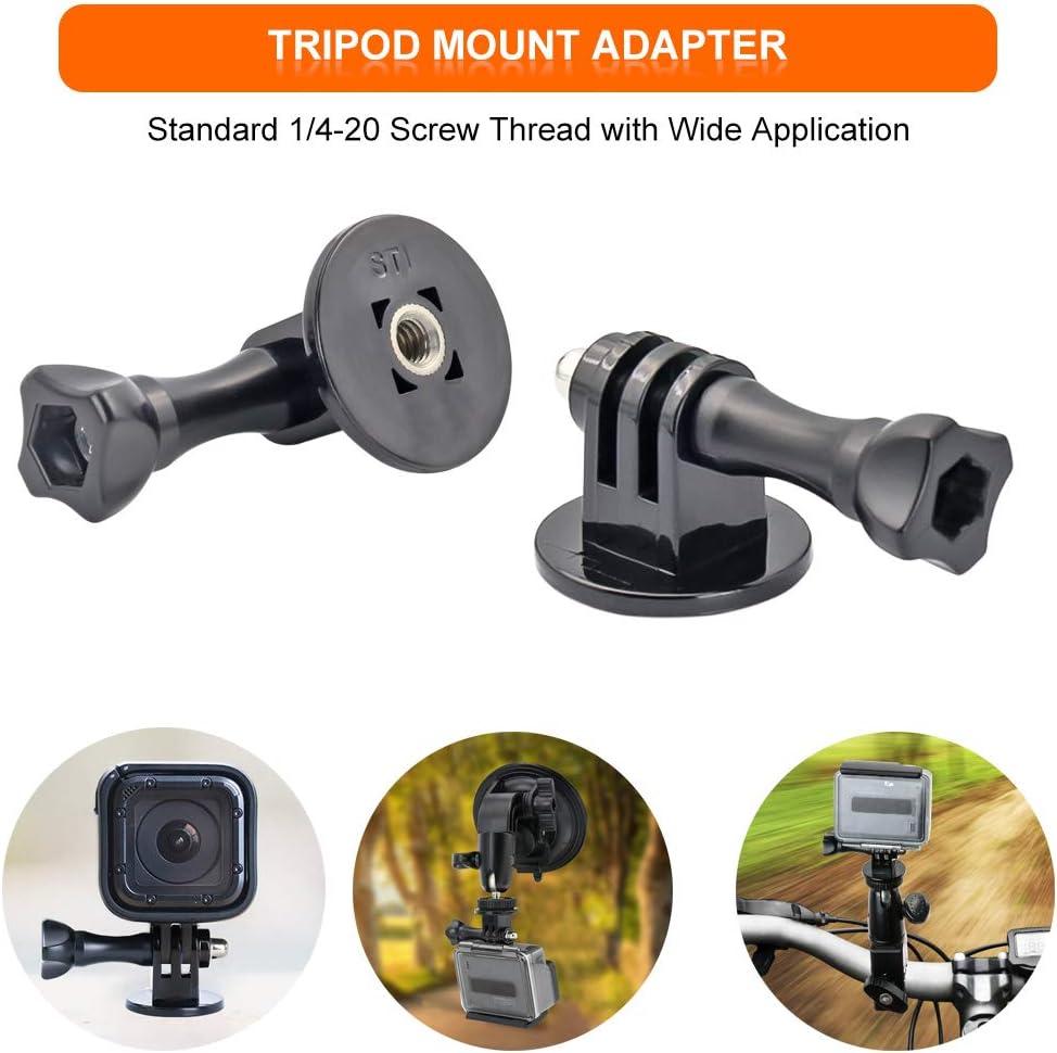 soporte de c/ámara para GoPro Hero y todas las c/ámaras Soporte de ventosa para parabrisas de coche viene con adaptador de tr/ípode y almohadilla adhesiva