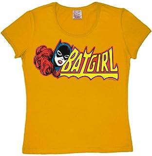 Batman Superheldin DC Comics LOGOSHIRT Batgirl Kinder T-Shirt rosa