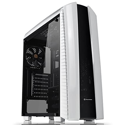 Thermaltake Versa 27 Midi-Tower Negro, Color Blanco Carcasa de Ordenador - Caja de Ordenador (Midi-Tower, PC, SPCC, ATX,Micro-ATX,Mini-ITX, Negro, ...