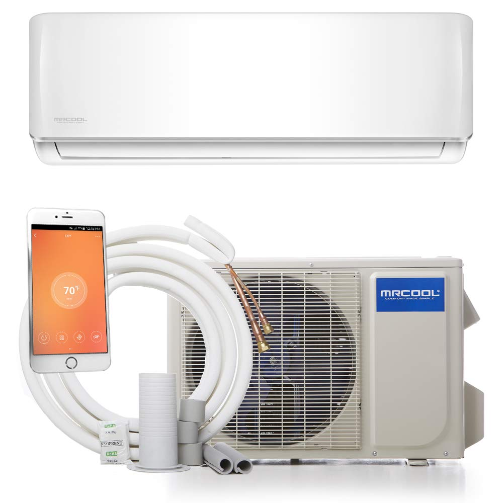 Best Rated In Split System Air Conditioners Helpful Customer Home Depot Wire Loom Free Download Wiring Diagrams Pictures Mrcool Diy 12k Btu 175 Seer Ductless Mini Heat Pump W Wifi Product