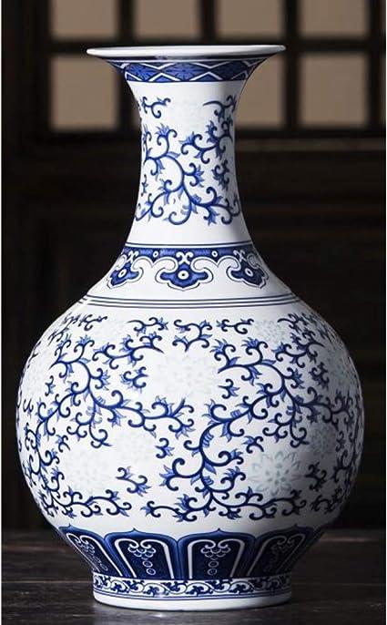 Mesyr Keramiek Dunne Band Prachtige Blauw En Wit Porselein Granaatappel Vaas Nieuwe Chinese Woonkamer Decoratie Keramische Vaas Amazon Nl